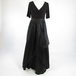 Black ADRIANNA PAPELL 1/2 sleeve ball gown dress 6